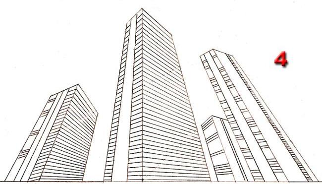 как нарисовать город поэтапно
