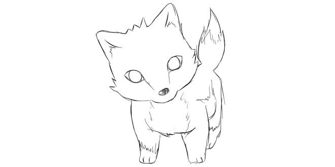 Як намалювати чібі вовка