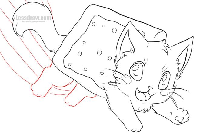 Как нарисовать Нян Кэт красиво
