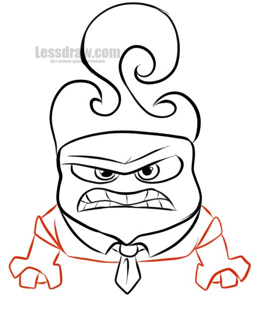 как нарисовать гнев
