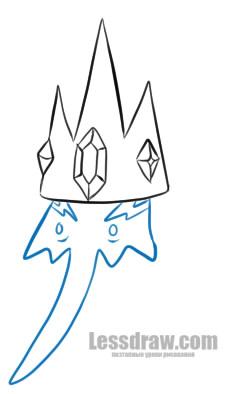 Как нарисовать Снежного Короля из Время приключений