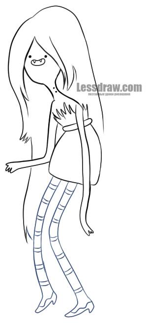 Как нарисовать Марселин из Время приключений