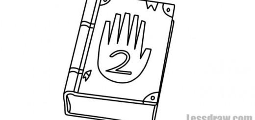 Как нарисовать Дневник Диппера из Гравити Фолс