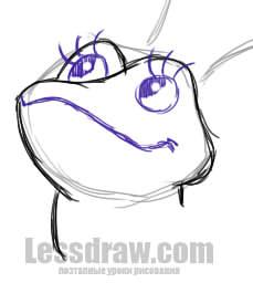 как нарисовать царевну лягушку