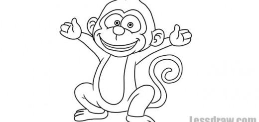 Как нарисовать обезьяну