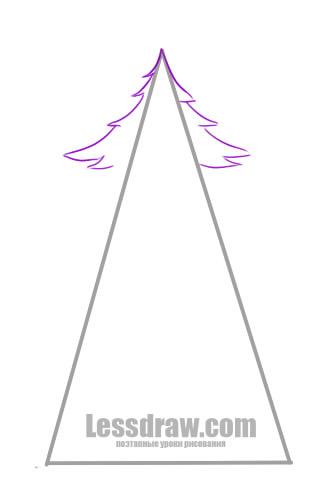 Как нарисовать елку на Новый год поэтапно карандашом