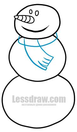 Как нарисовать Снеговика ребенку
