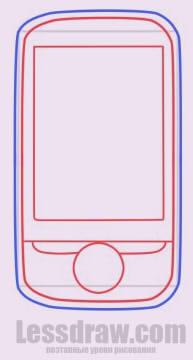 Как нарисовать мобильный телефон
