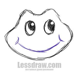 как нарисовать лягушку из сказки царевна лягушка