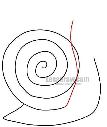 Как нарисовать улитку ребенку