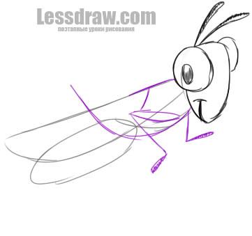 Как нарисовать кузнечика поэтапно