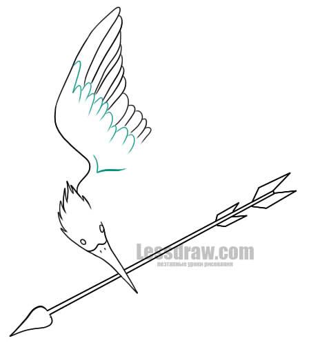 Как нарисовать символ Голодных игр