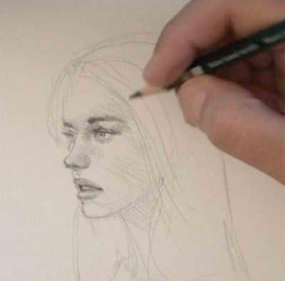 урок рисования лица девушки карандашом
