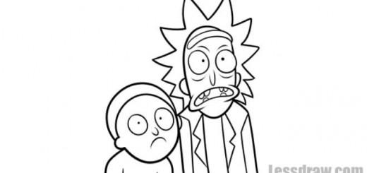 Как нарисовать Рика и Морти