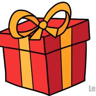 Как нарисовать подарок на новый год