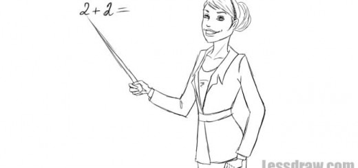 как нарисовать учительницу