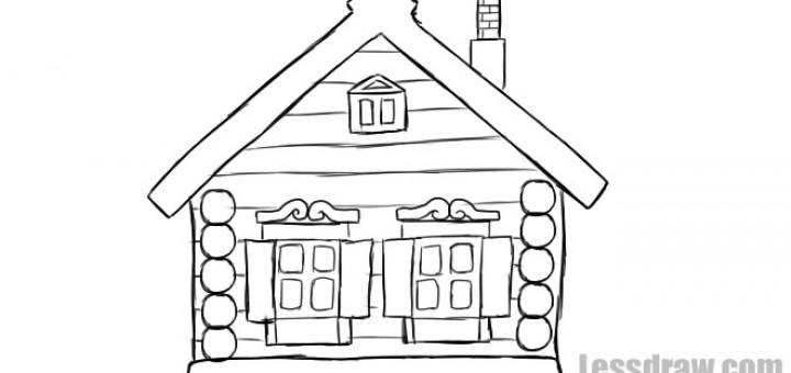 Рисунки избы снаружи для 5 класса