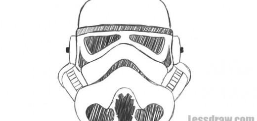 Как нарисовать штурмовика из Звездных войн поэтапно