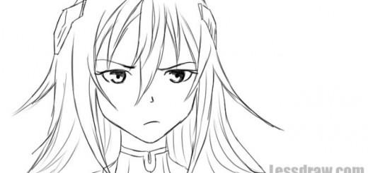 как нарисовать девушку из аниме