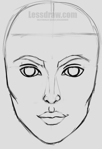 Учиться рисовать девушек карандашом для начинающих поэтапно