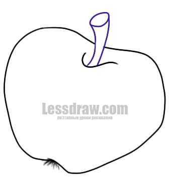 Как нарисовать яблоко для детей легко