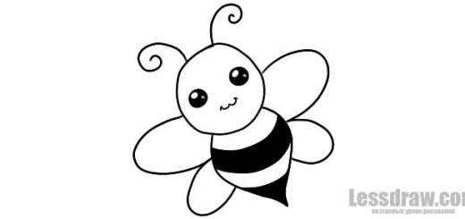 Как нарисовать пчелку поэтапно ребенку