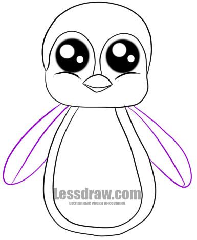 Как нарисовать пингвиненка поэтапно