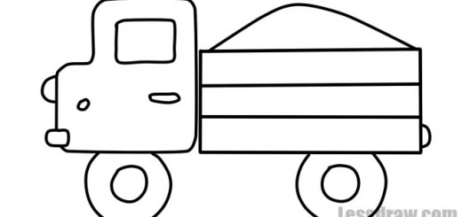как нарисовать грузовик ребенку