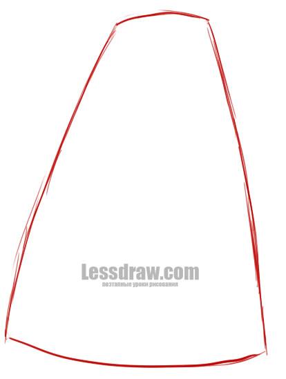 Как нарисовать русский сарафан  4b4a864176dc0