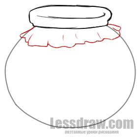 как нарисовать мед