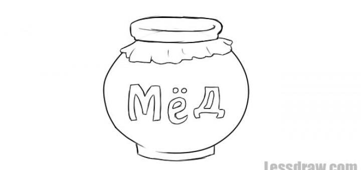Раскраска бочки меда