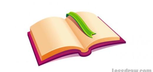 Как нарисовать книгу легко