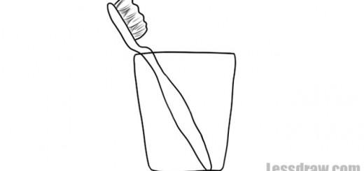 как нарисовать зубную щетку
