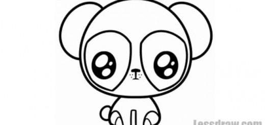 как нарисовать чиби панду