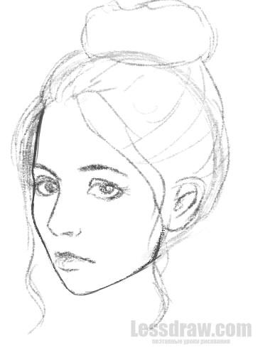 Рисуем на планшете девушек