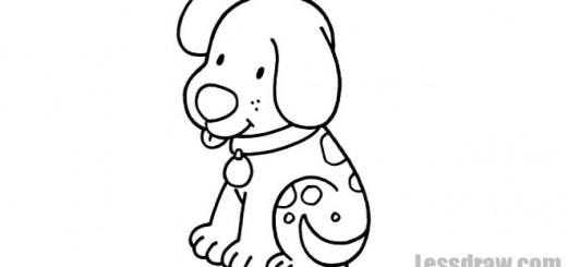 щенок раскраска