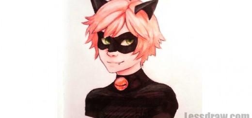 кот нуар рисунок