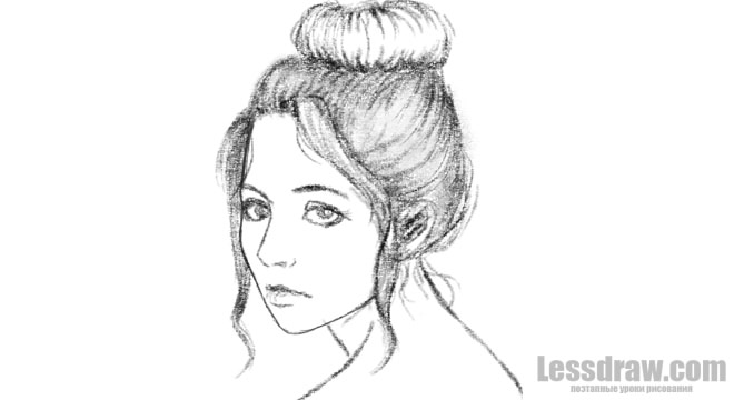 T красиво нарисовать карандашом девушку