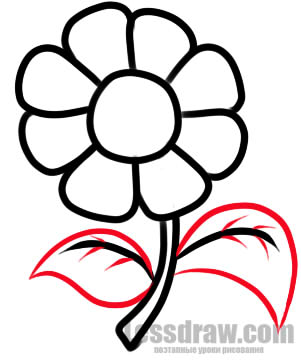 Рисунок цветы простой