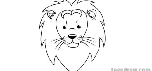 рисунок львенка