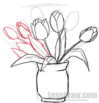 Рисунки на 8 марта цветы в вазе купить цветы по оптовым ценам минск