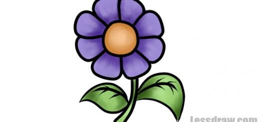 урок рисования цветка для детей