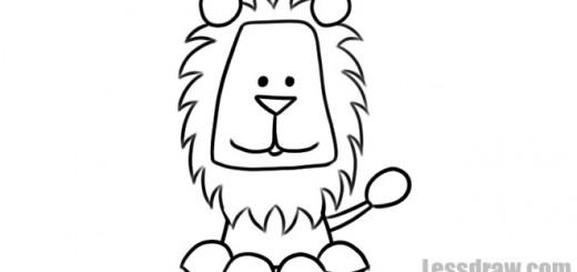 рисунок львенка ребенку карандашом