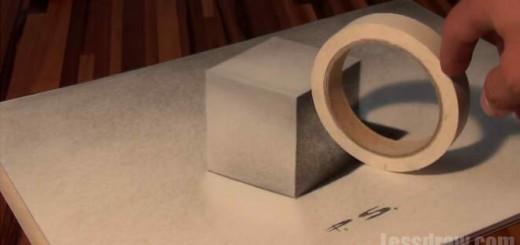 Как нарисовать 3D куб на бумаге