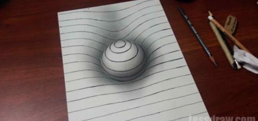 Как нарисовать сферу 3D на бумаге