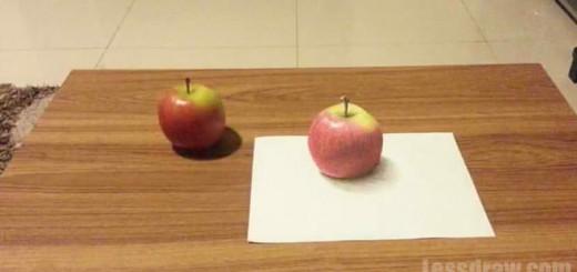 Как нарисовать 3D рисунок яблока поэтапно