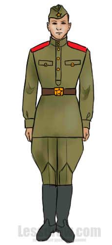 Парень в военной форме рисунок фото 681-472