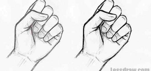 рука карандашом кулак