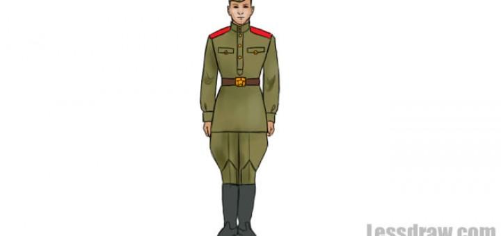 тем, как нарисовать солдата для начинающих смену всем