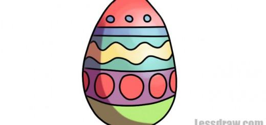 пасхальное яйцо карандашом